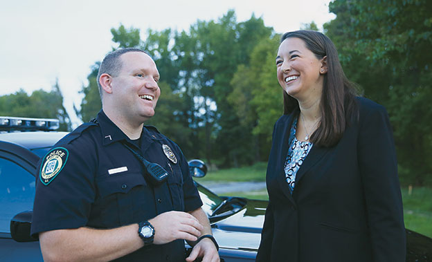Chelsea Stewart and West Columbia police officer Shawn Ludgwig reflect on their ride-along.