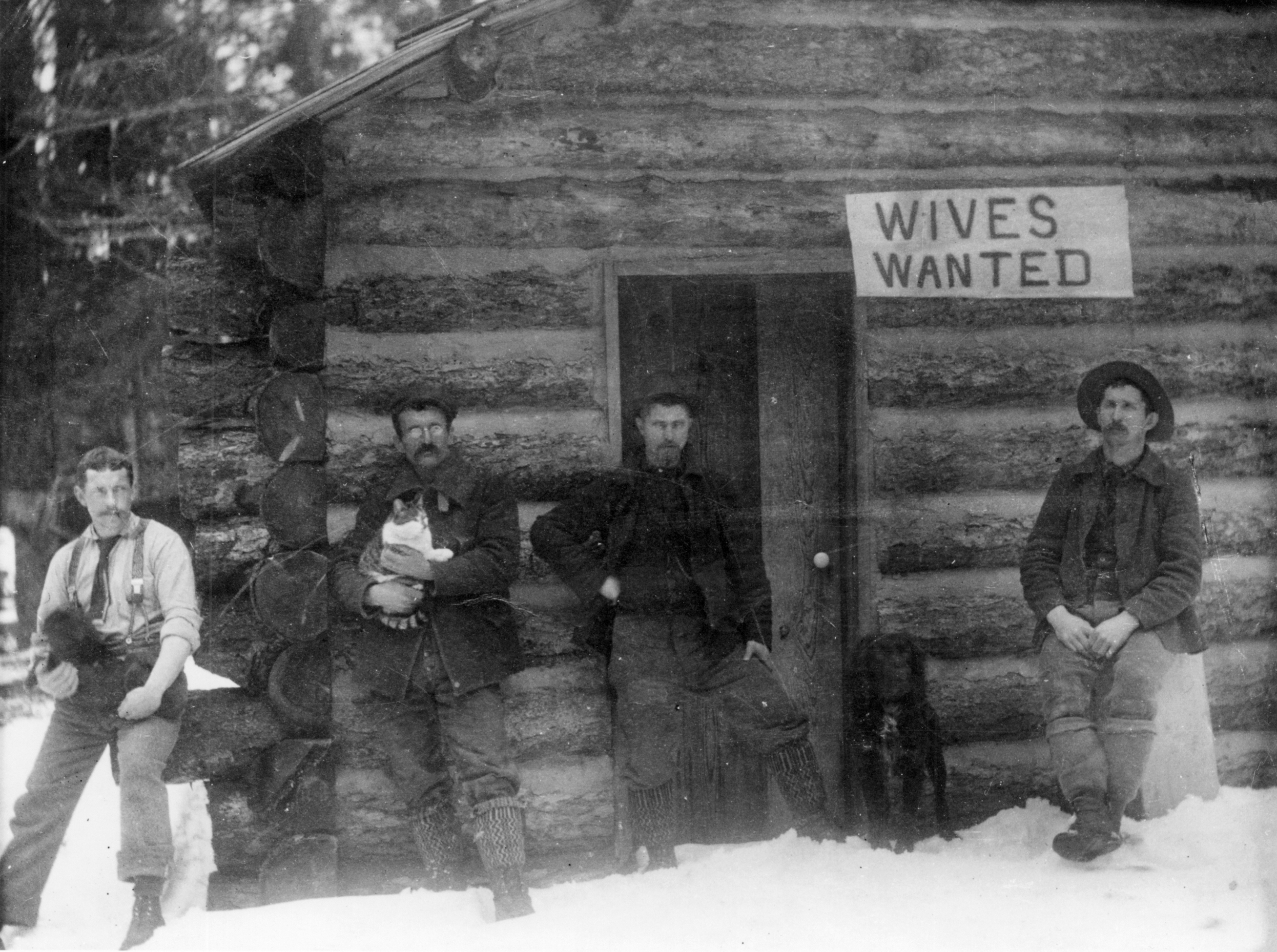 A group of Montana men advertising for wives, ca. 1901. Photo courtesy of National Park Service, Glacier National Park Archives